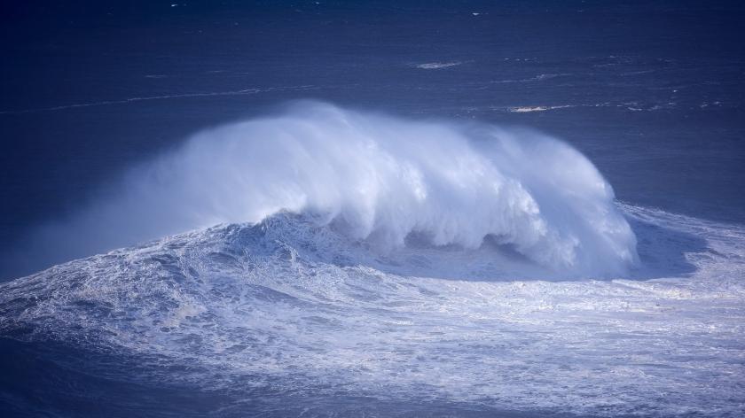 Nazare Portugal Atlantic Ocean Waves